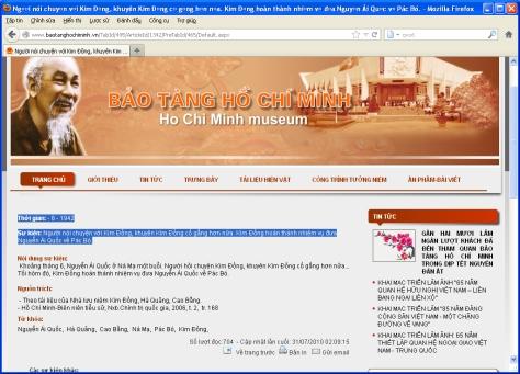 1. Kim Dong lam giao lien cho Ho